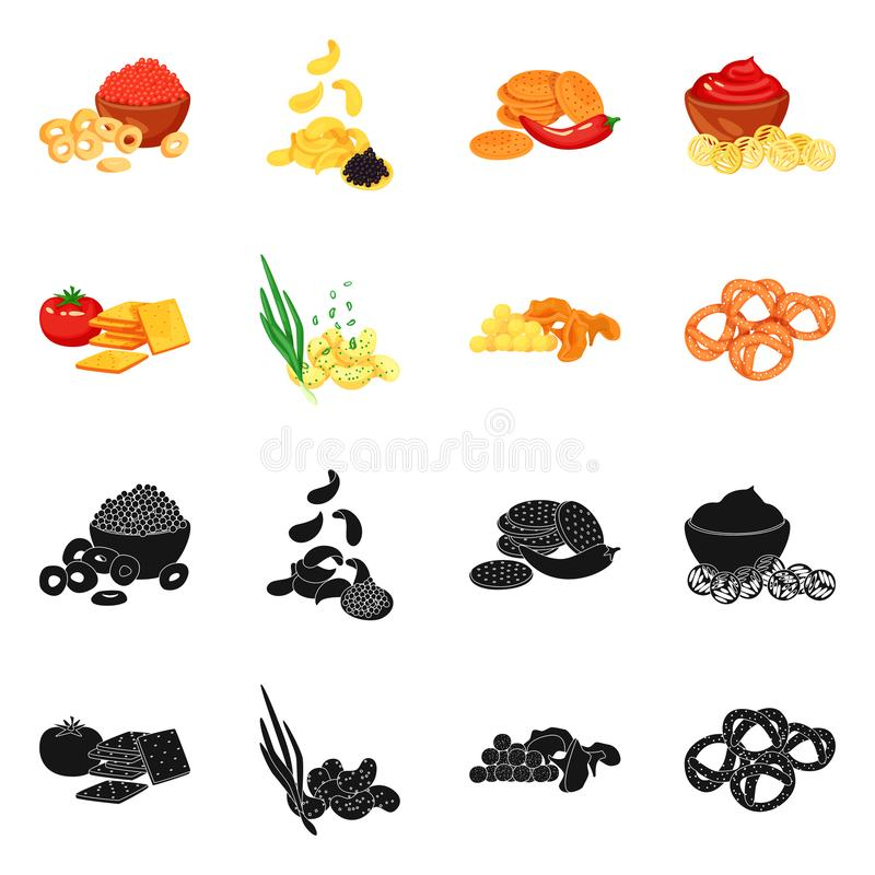 Vector design of taste and seasonin symbol. Set of taste and organic stock vector illustration. Vector illustration of taste and seasonin sign. Collection of stock illustration