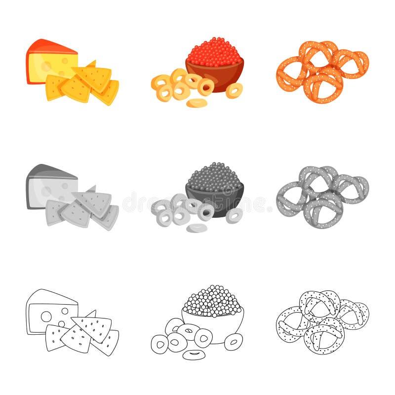 Vector illustration of taste and seasonin sign. Set of taste and organic vector icon for stock. Isolated object of taste and seasonin logo. Collection of taste royalty free illustration