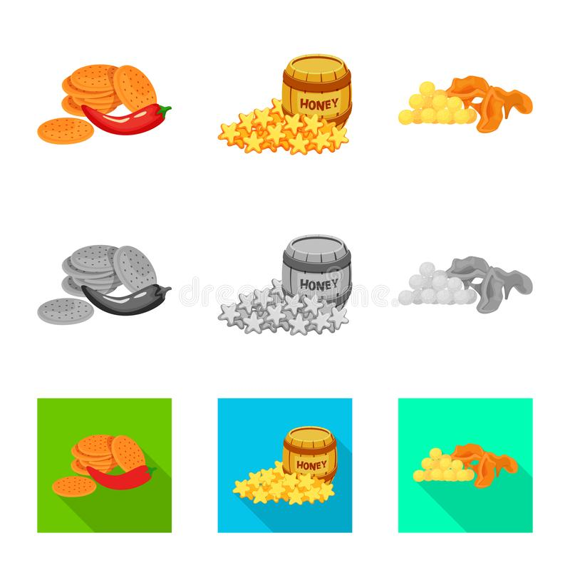 Vector illustration of taste and seasonin symbol. Collection of taste and organic vector icon for stock. Isolated object of taste and seasonin sign. Set of royalty free illustration