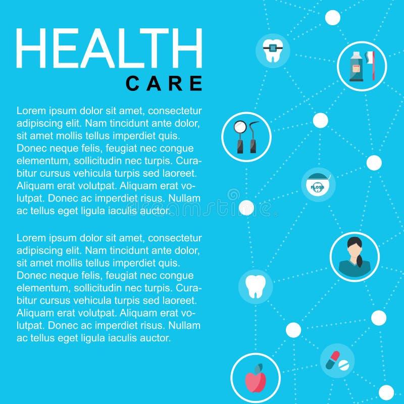 Template healthcare card stock illustration