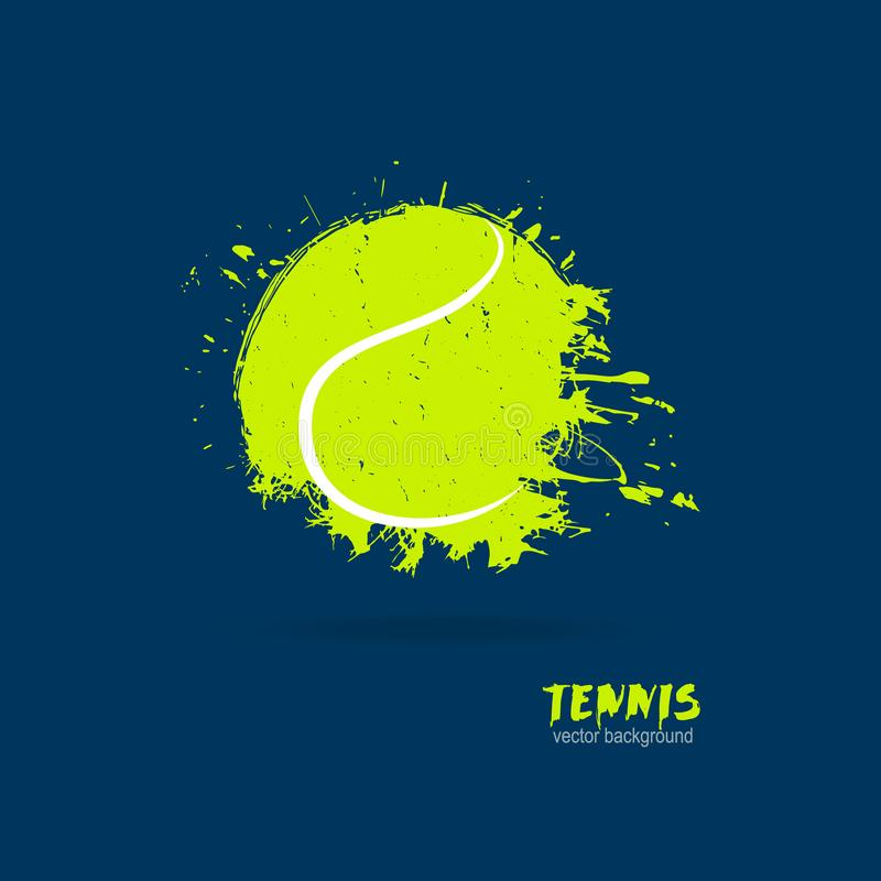 Vector illustration tennis ball. Design print for T-shirts. vector illustration