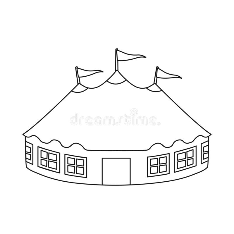 Vector illustration of tent and dome logo. Set of tent and recreation vector icon for stock. Isolated object of tent and dome icon. Collection of tent and royalty free illustration
