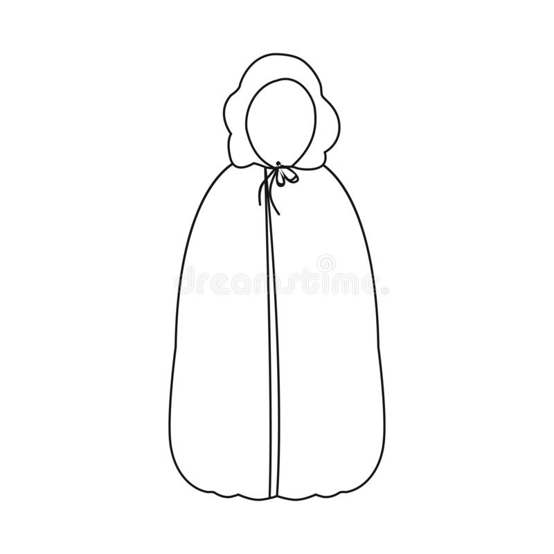 Vector design of tent and raincoat icon. Collection of tent and hood stock vector illustration. stock illustration