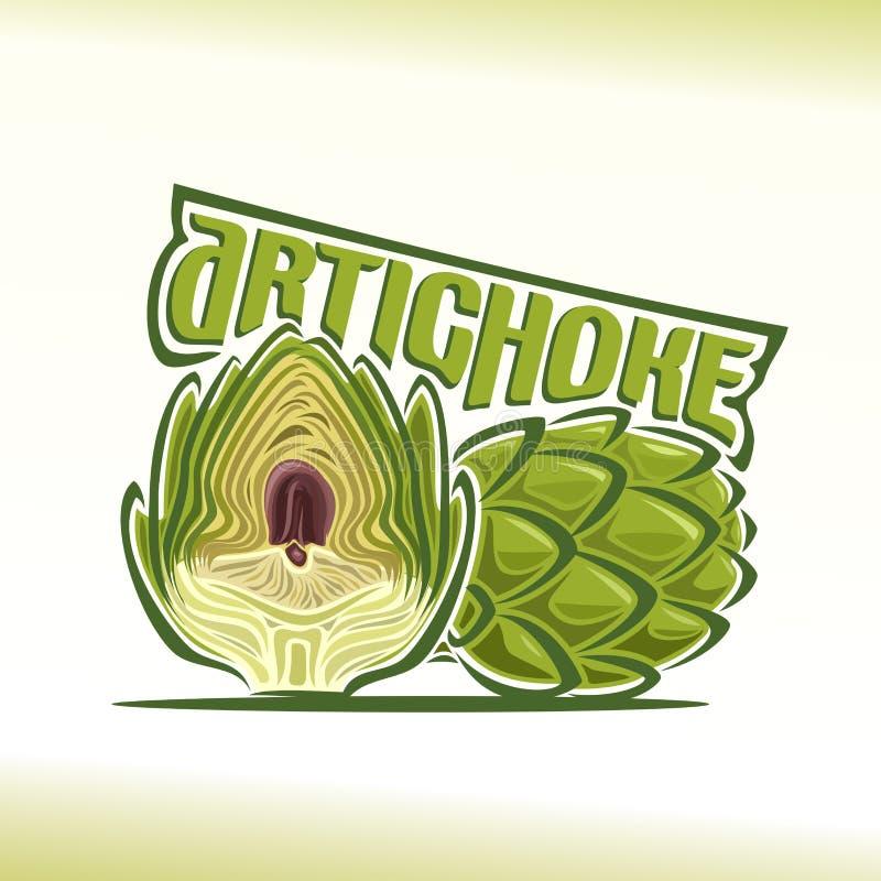 Vector illustration on the theme of artichoke stock illustration