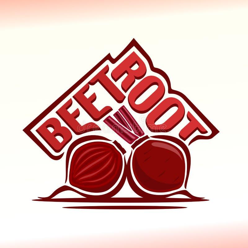 Vector illustration on the theme of beetroot. Abstract vector illustration on the theme of beetroot stock illustration