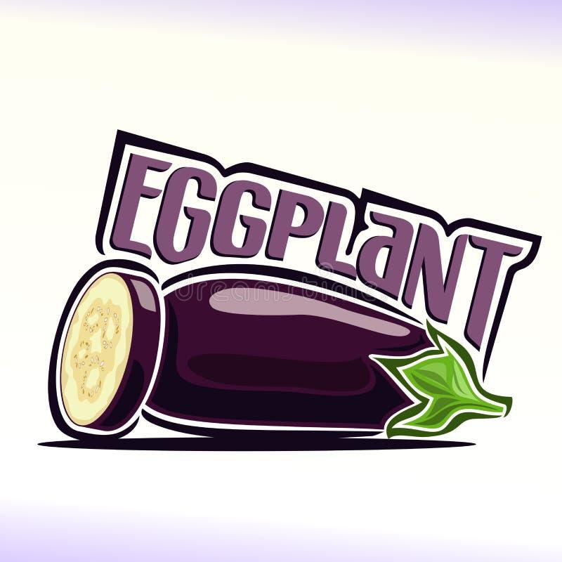 Vector illustration on the theme of eggplant stock illustration