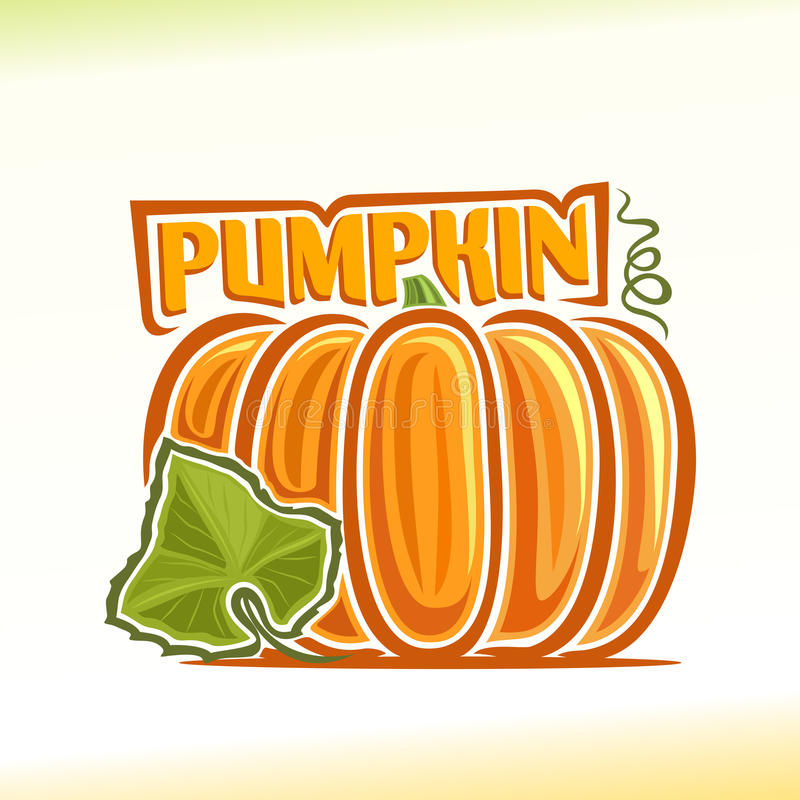 Vector illustration on the theme of pumpkin royalty free illustration