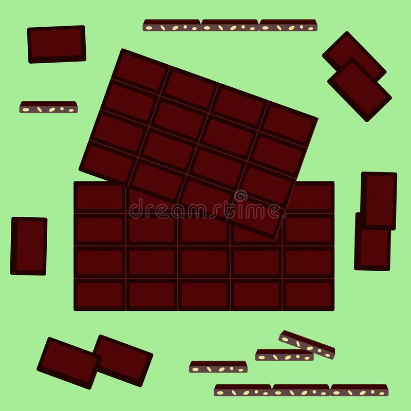Vector illustration on a theme of World Chocolate Day stock photography