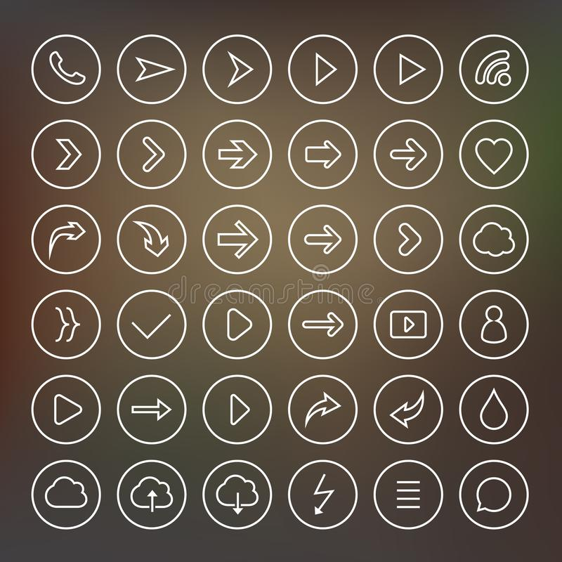 Set of arrow icons. royalty free illustration