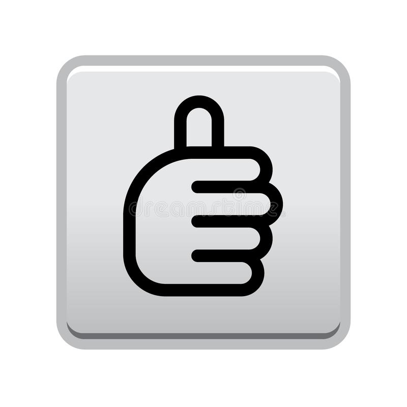 Thumbs up sign button. Vector illustration of thumbs up sign winner icon web button isolated on white background stock illustration