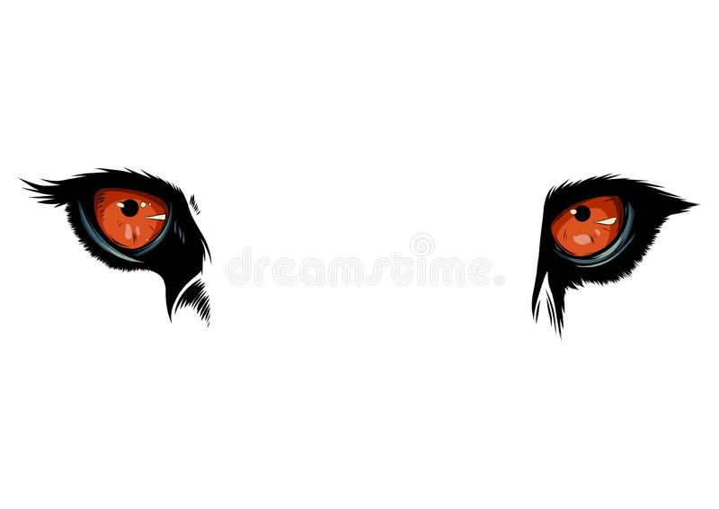 Vector illustration Tiger Eyes Mascot Graphic in white background stock illustration