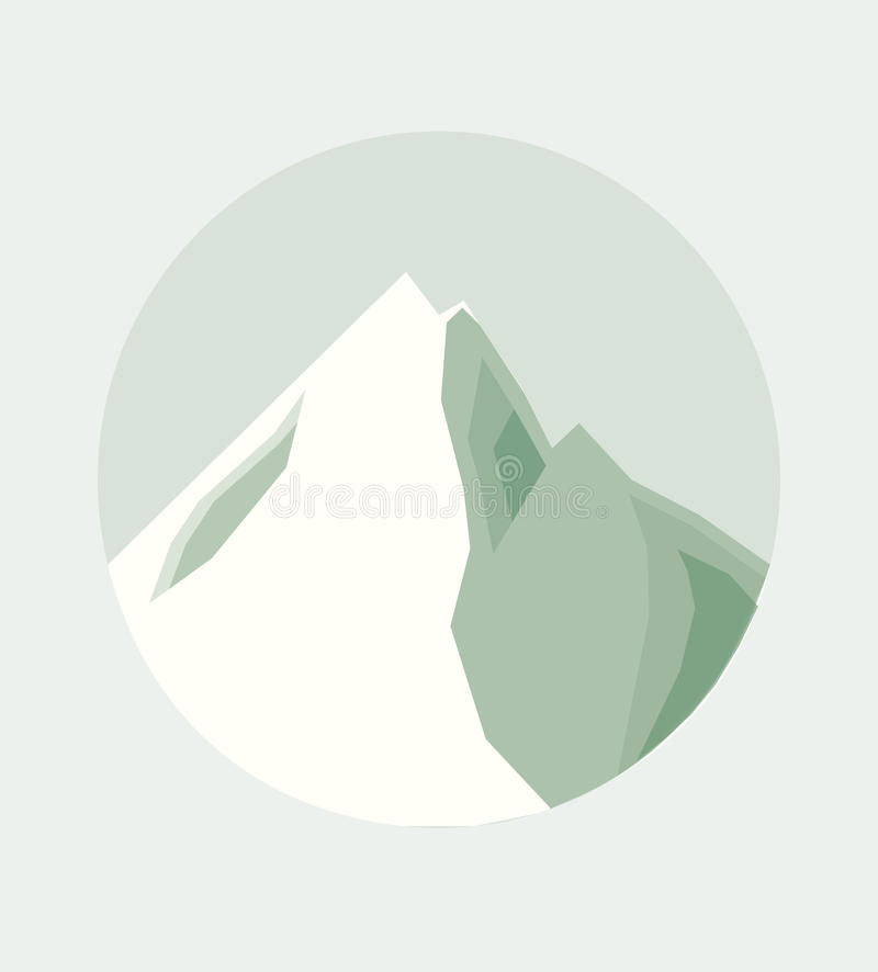 Vector Illustration of the Top of a Mountain stock image