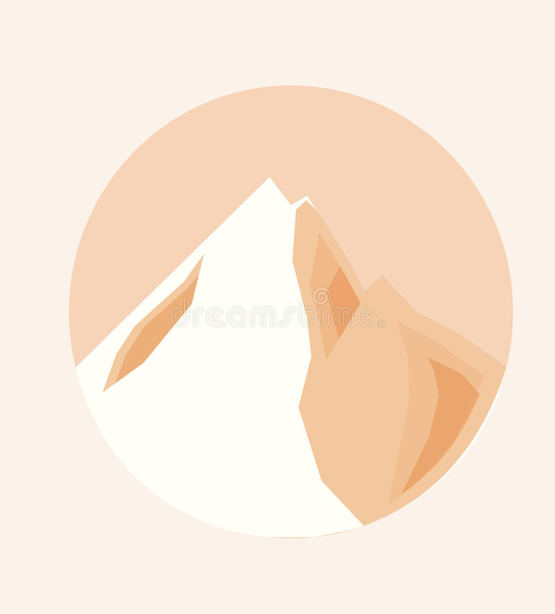 Vector Illustration of the Top of a Mountain royalty free stock image