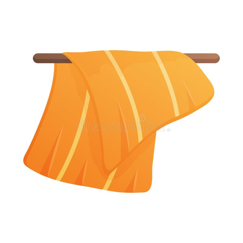 Vector illustration of towel and shower symbol. Collection of towel and dry stock vector illustration. stock illustration