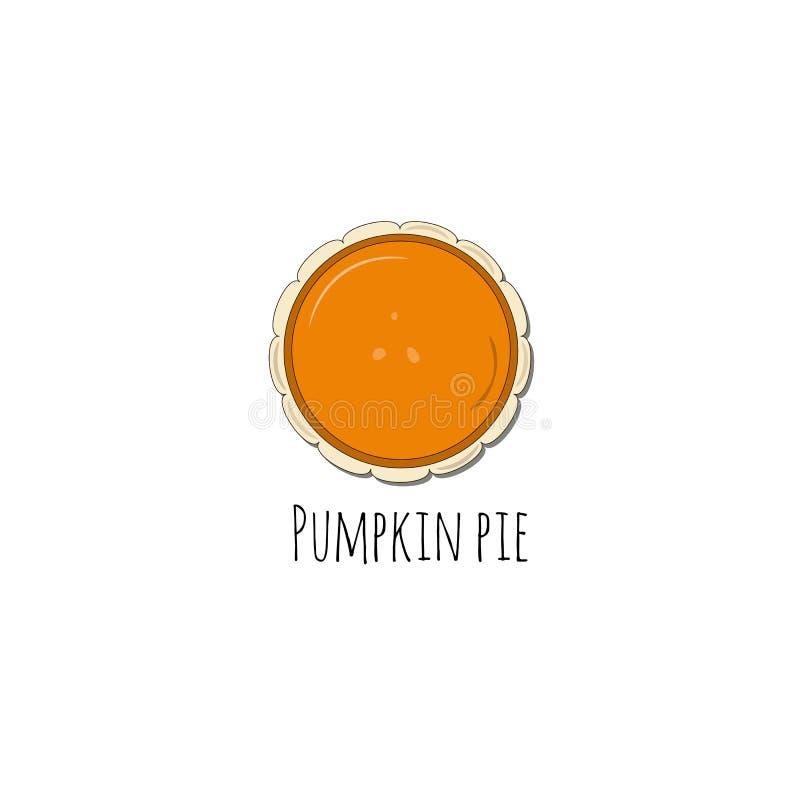 Pumpkin pie illustration stock illustration