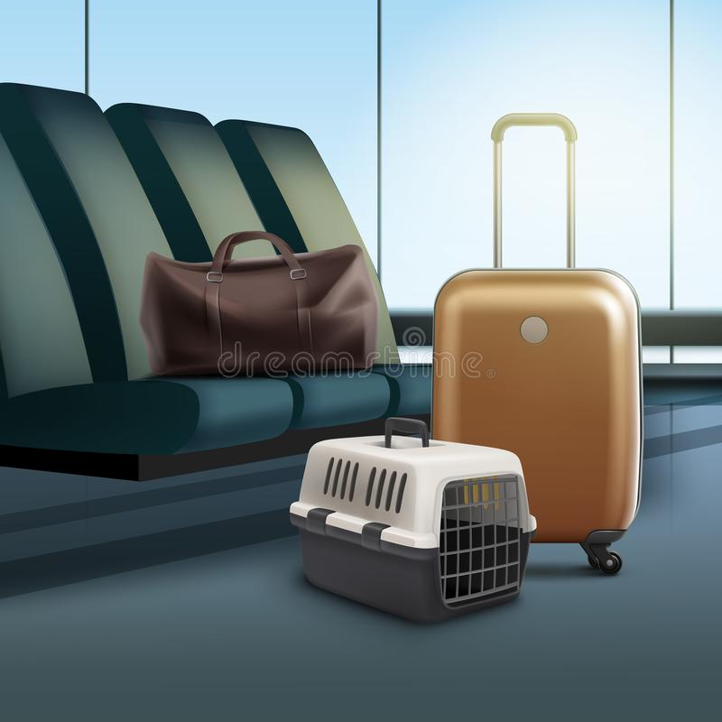 Travel with pet royalty free illustration