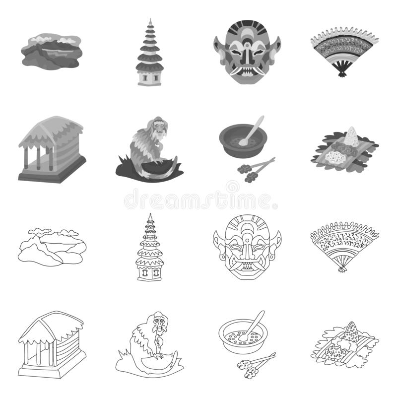 Vector illustration of and travel sign. Set of and traditional stock vector illustration. Isolated object of and travel logo. Collection of and traditional vector illustration