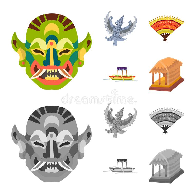 Vector design of and travel icon. Set of and traditional stock vector illustration. Vector illustration of and travel symbol. Collection of and traditional vector illustration