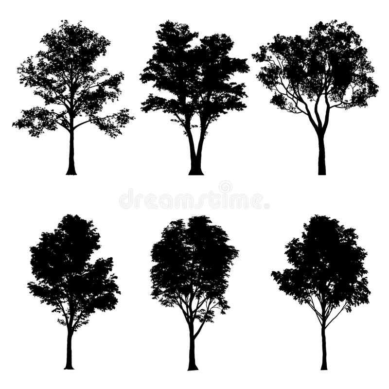 Vector illustration of tree silhouettes vector illustration
