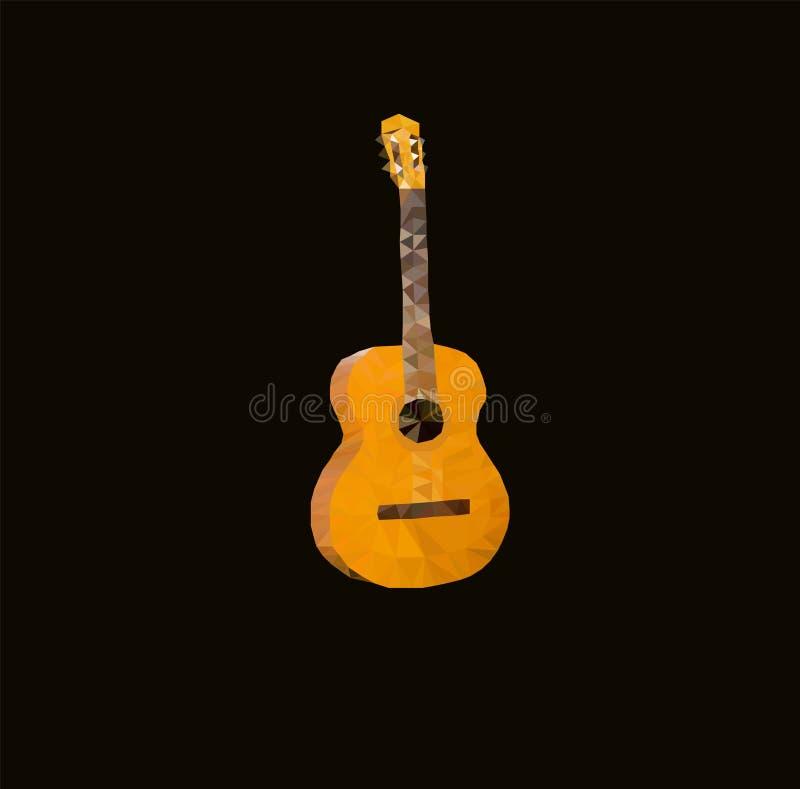 Vector illustration triangle guitar stock photo