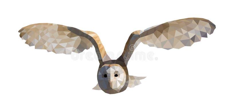 Vector illustration triangle owl stock photos