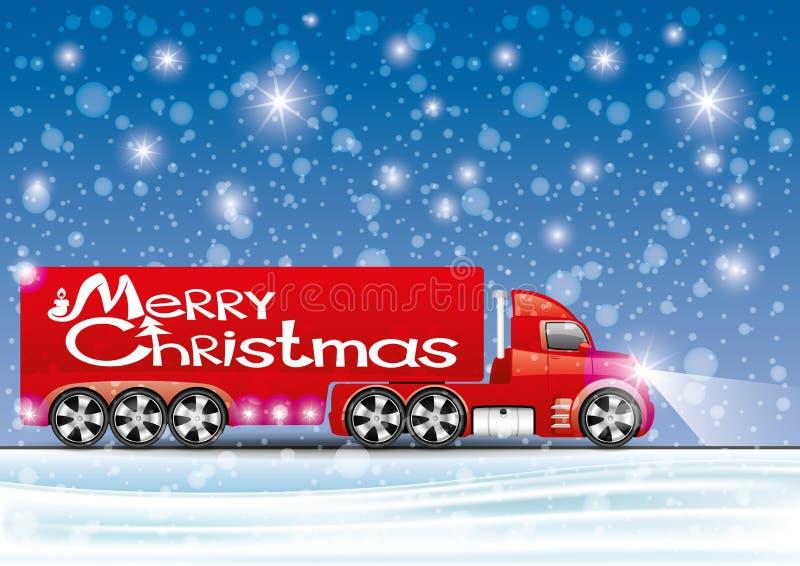 Vector illustration. Truck. stock illustration