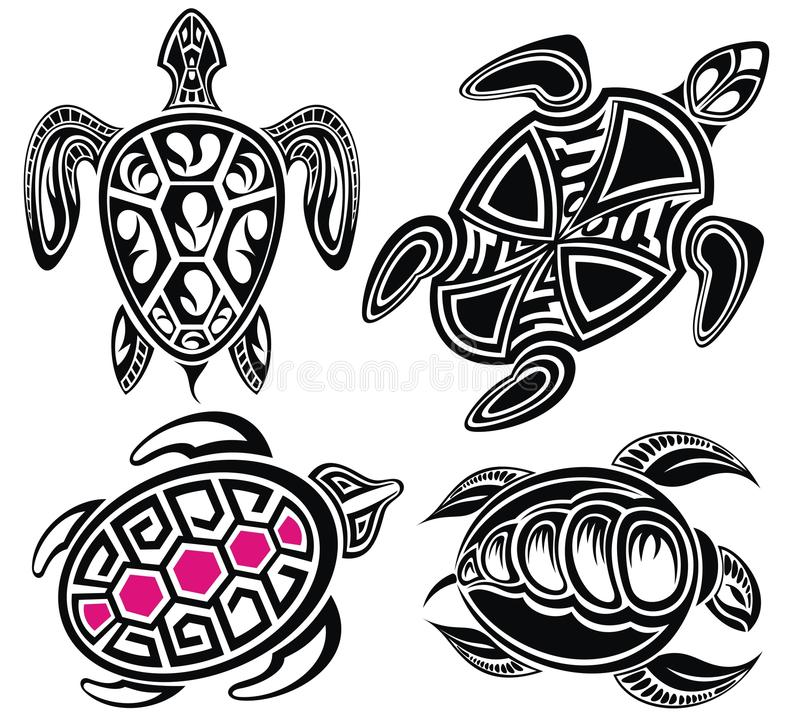 Vector illustration of turtles royalty free illustration