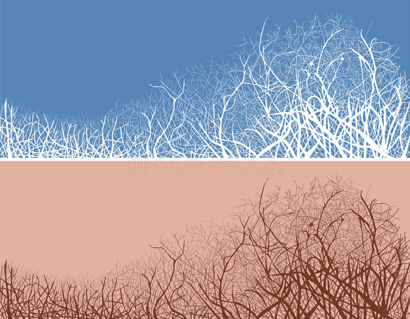 Download Vector Illustration Of Twigs In Two Color Variants Stock Vector - Illustration of forest, hoar: 4074812