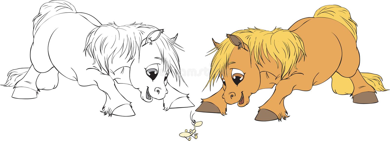 Vector Illustration of two Horse stock illustration