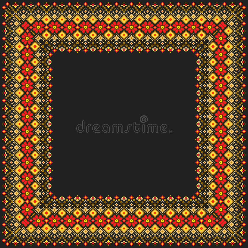 Vector illustration of ukrainian folk seamless pat. Tern ornament. Ethnic ornament vector illustration