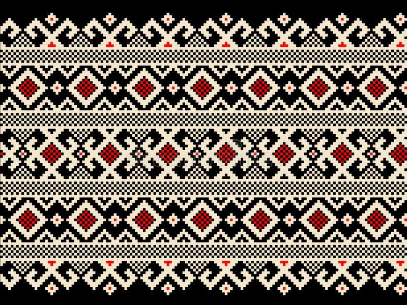 Vector illustration of ukrainian folk seamless pat vector illustration