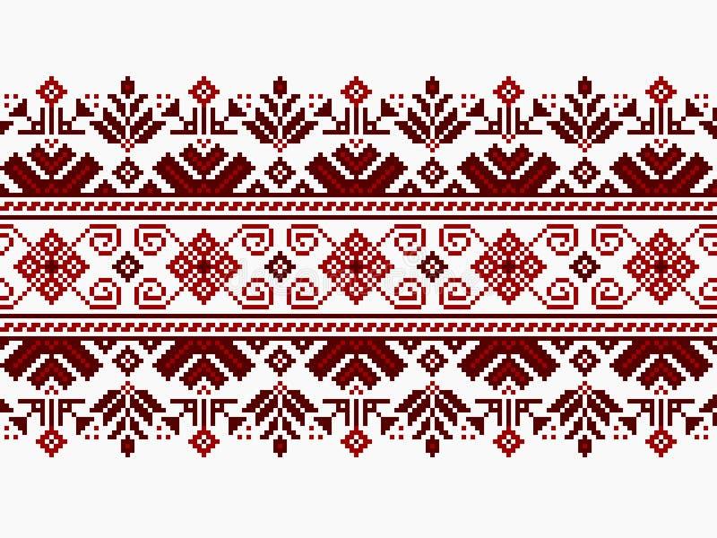 Vector illustration of ukrainian folk seamless pat. Tern ornament. Ethnic ornament stock illustration