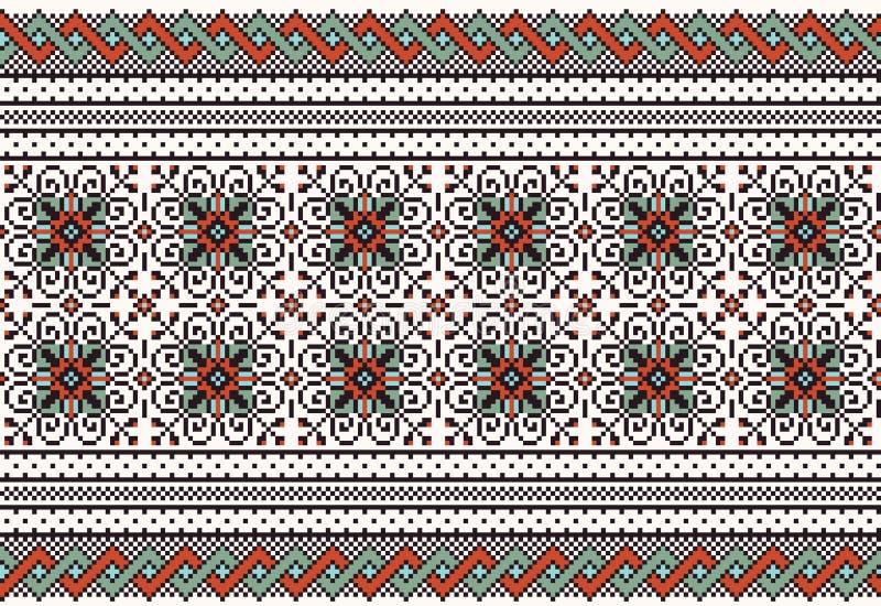 Vector illustration of ukrainian folk seamless pat stock illustration