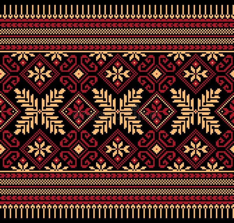 Vector illustration of ukrainian folk seamless pat royalty free illustration