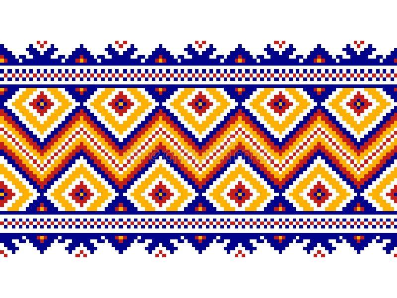 Vector illustration of ukrainian folk seamless pattern ornament. vector illustration