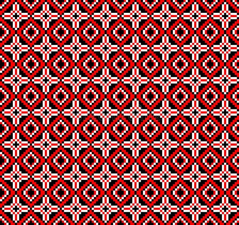 Vector illustration of ukrainian folk seamless pattern ornament. Ethnic ornament vector illustration