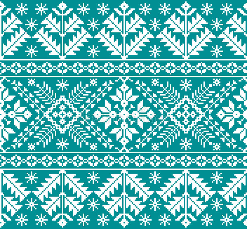 Vector illustration of Ukrainian folk seamless pattern ornament. Ethnic ornament. Border element. Tr. Aditional Ukrainian, Belarusian folk art knitted embroidery royalty free illustration