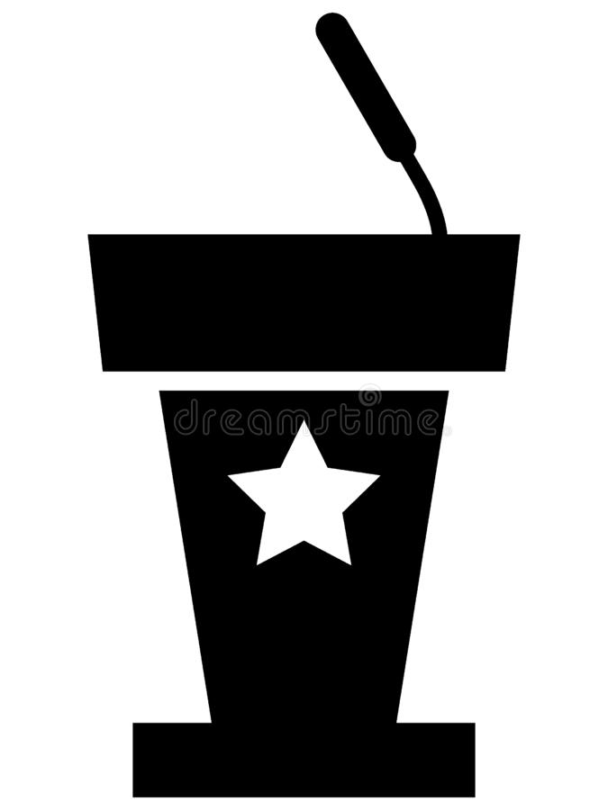 USA Elections Standing Counter Icon. Vector Illustration of USA Elections Standing Counter Icon vector illustration