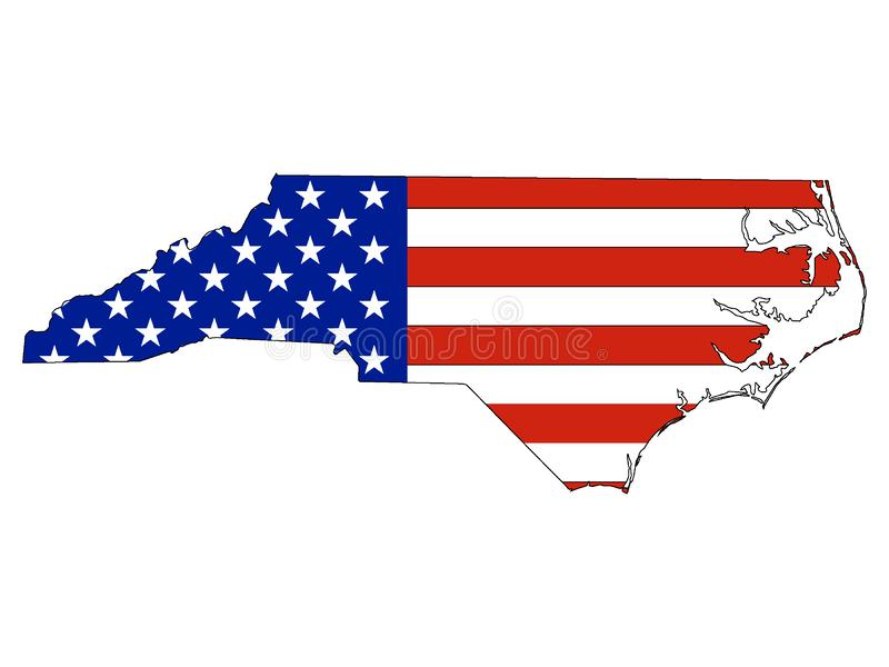 USA Flag Combined With The Map Of US Federal State Of North ...