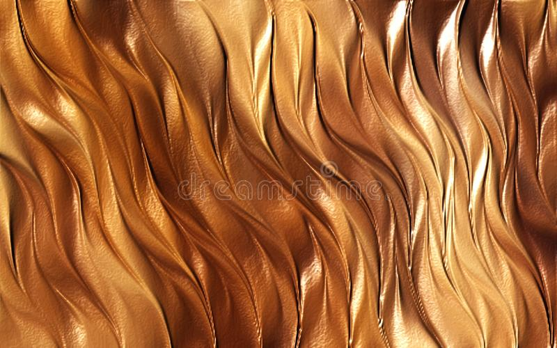 Brown Colored wave abstract background wallpaper vector illustration royalty free stock photo