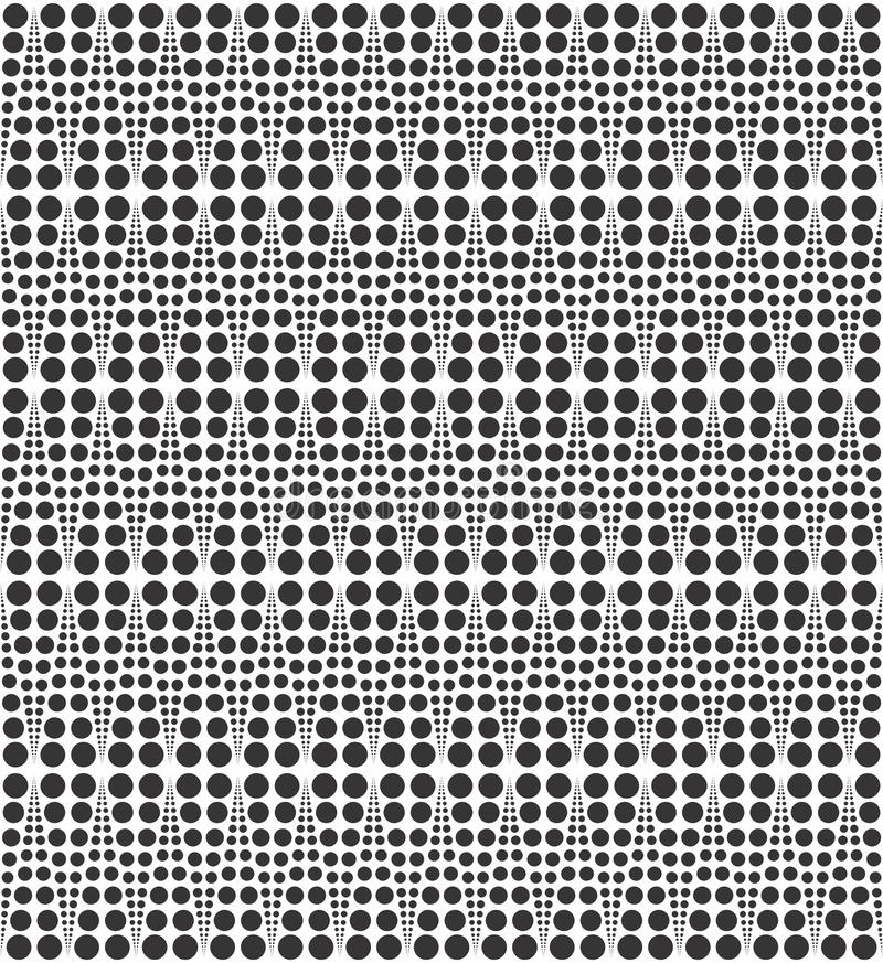 Geometric dotted diamond seamless pattern black n white vector design illustration royalty free stock images