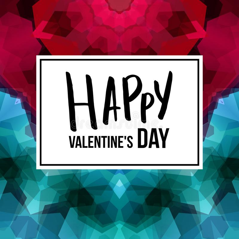 Vector illustration of Valentines day card template. royalty free illustration