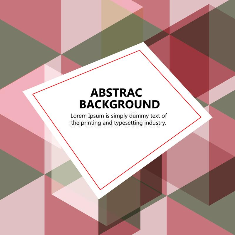 The vector illustration & x22;Vector abstract background. royalty free stock images