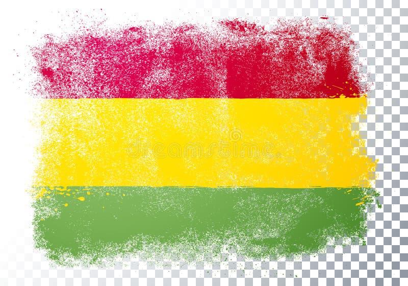 Vector Illustration Verzerrung Grunge Flag Bolivien vektor abbildung