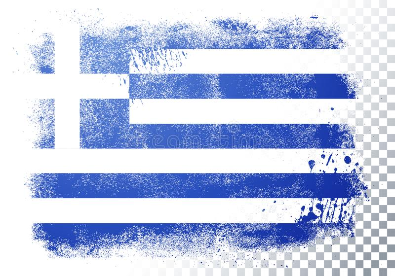 Vector Illustration Verzerrung Grunge Flag Griechenland vektor abbildung