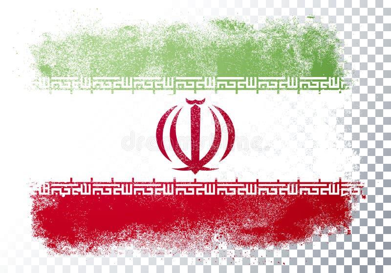Vector Illustration Verzerrung Grunge Flag Iran lizenzfreie abbildung