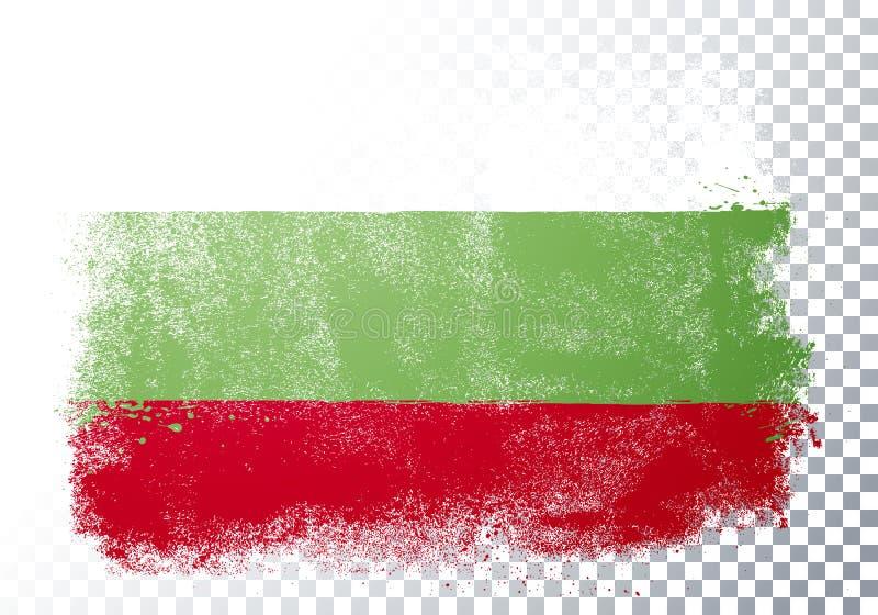 Vector Illustration Verzerrung Grunge Flagge Bulgariens vektor abbildung