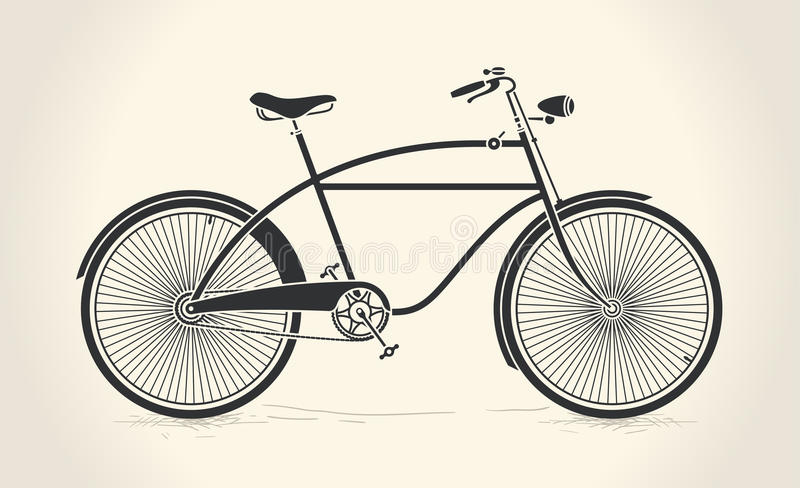 Vector illustration of vintage bicycle stock illustration