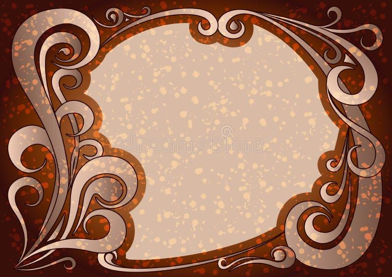 Download Vector Illustration Of Vintage Brown Frame Stock Vector - Image: 83719027