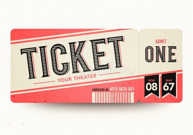 Vintage Cinema Tickets Stock Vector Illustration Of